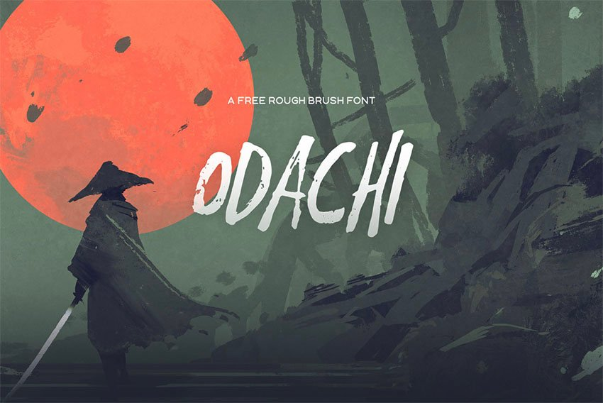Odachi Brush Stroke Font