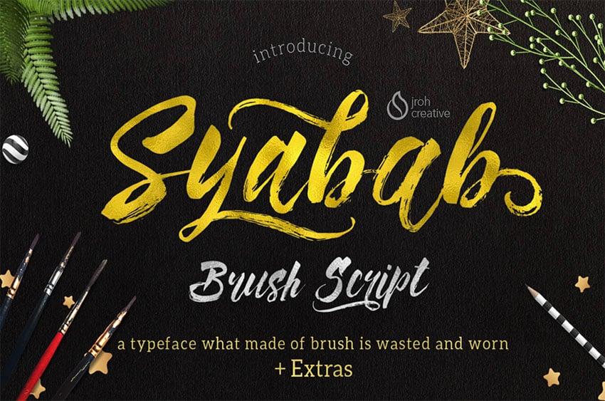 Syabab Brush Pen Font
