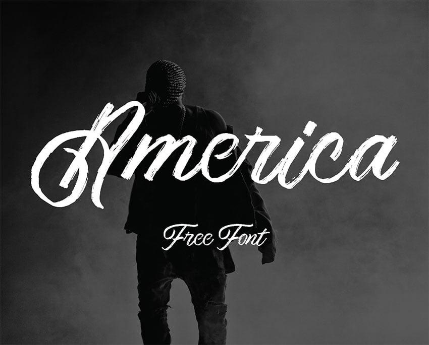 America Brush Calligraphy Font