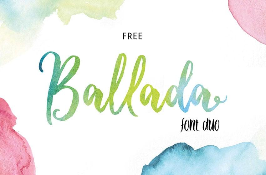 Ballada Art Brush Font