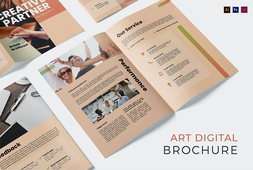 Art Digital Brochure InDesign