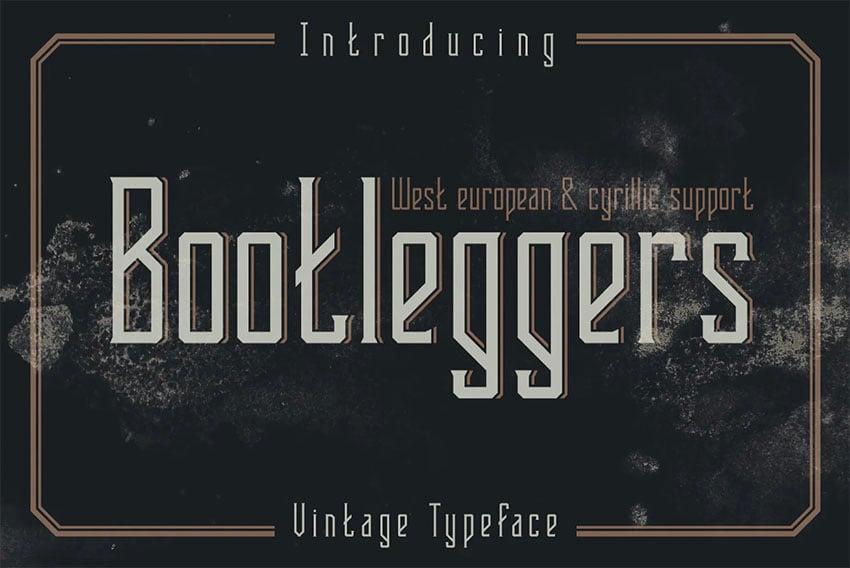 Bootleggers Serif Font Cyrillic