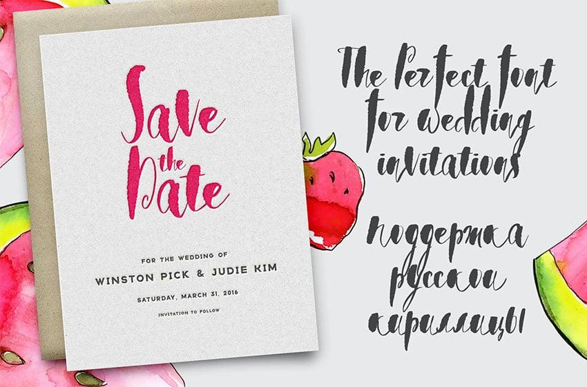 Watermelon Cyrillic Script Font