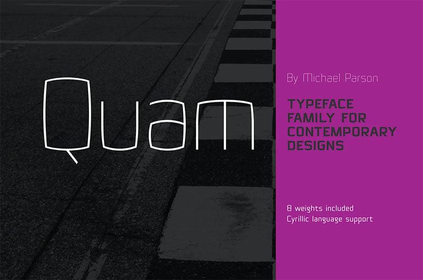 Quam Cyrillic Lettering Font