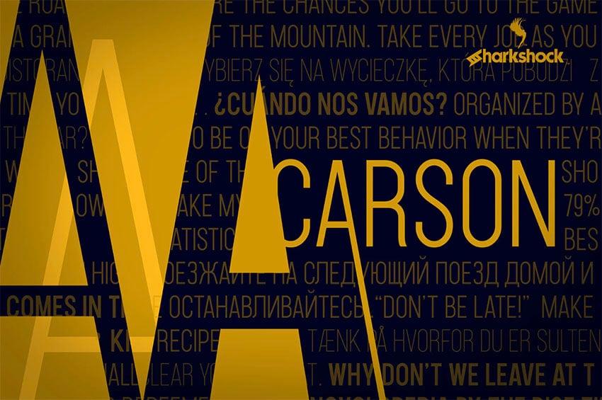 Carson Cyrillic Alphabet Font