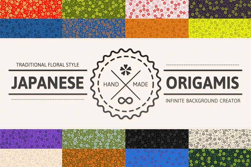 Japanese Origamis Backgrounds for Photoshop