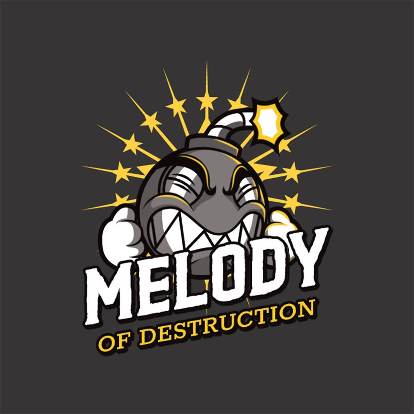 Melody of Destruction Logo Gaming Maker