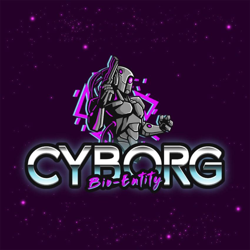 Cyborg Online Gaming Logo Maker