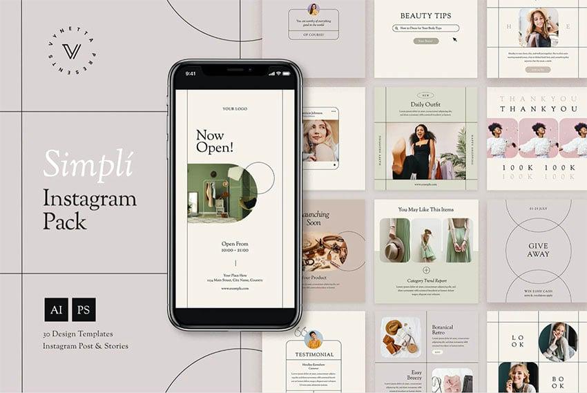 Simplí Instagram Grid Template