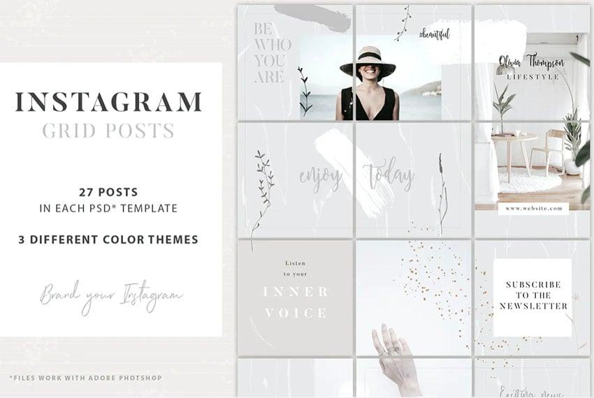 Instagram Grid Feed Template