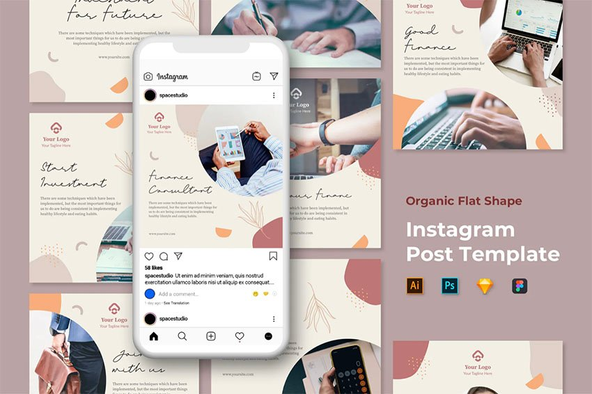 Instagram Feed Layout Template