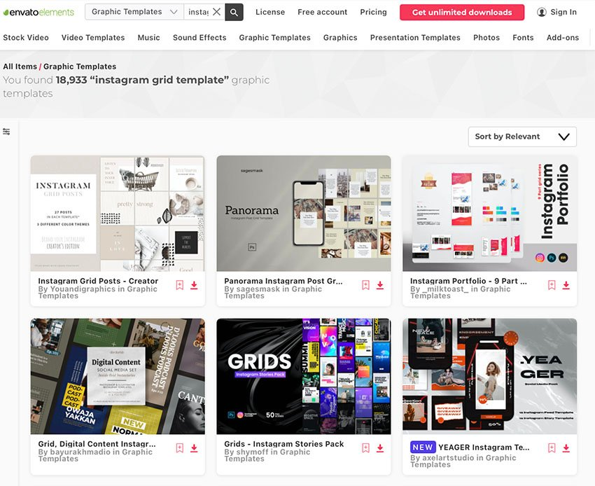 Unlimited Instagram Template Downloads From Envato Elements