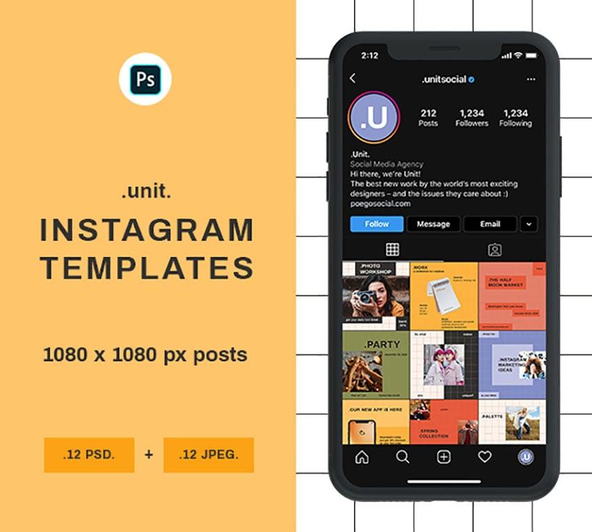 Instagram Grid Mockup Template