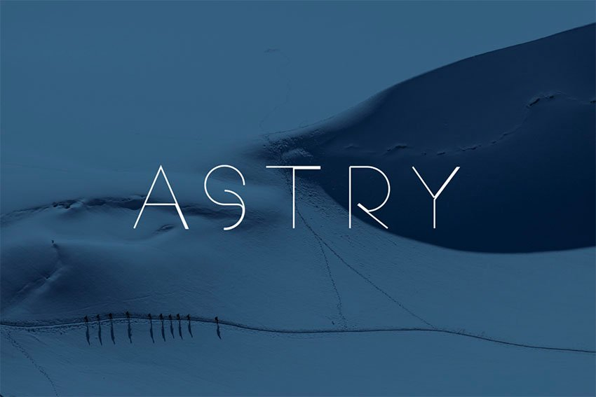 Astry Sans Serif Font Example Free