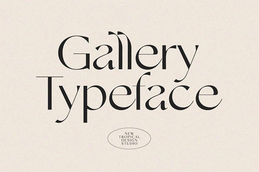 Gallery Modern Popular Sans Serif Font