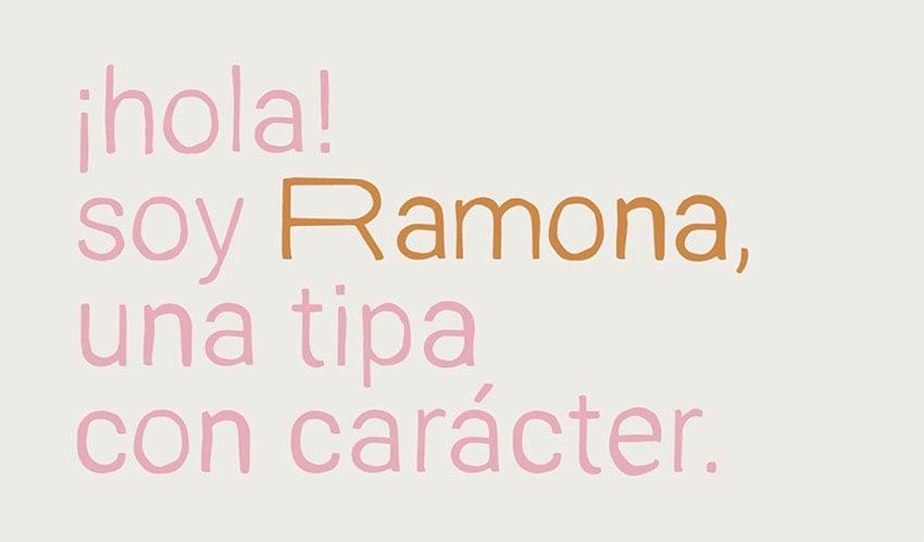 RAMONA - Sans Serif Font Example