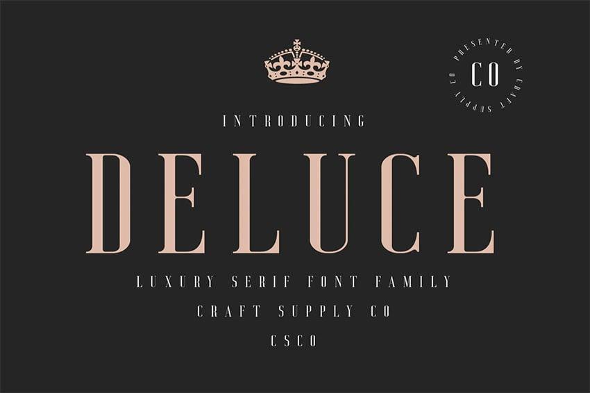 Deluce - Luxury Serif Font