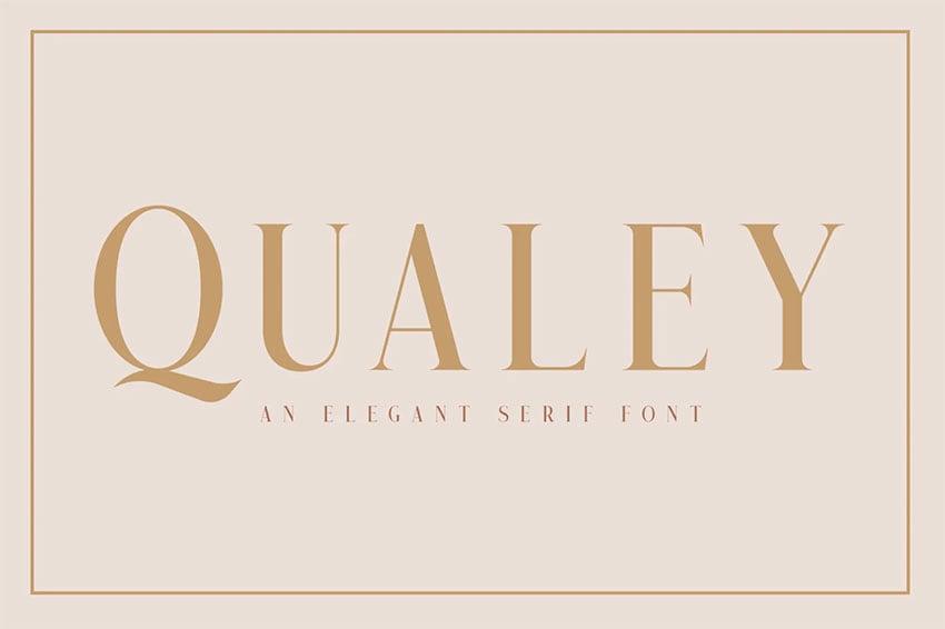 Qualey - Elegant Serif Font