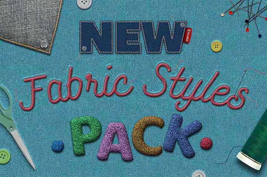 Fabric Text Photoshop Text Styles Download