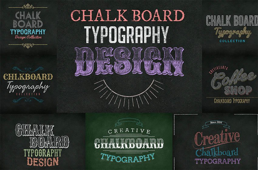 Chalkboard Text Style Photoshop Pack
