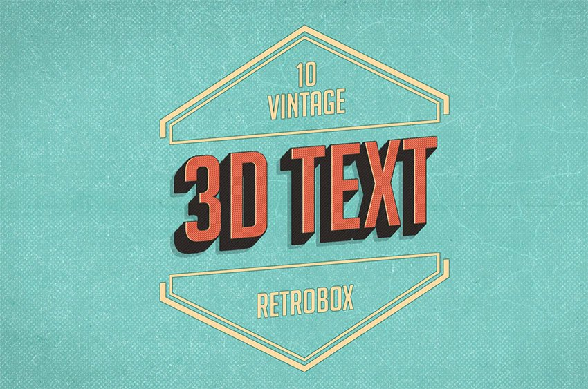 Retro Style Text in Photoshop