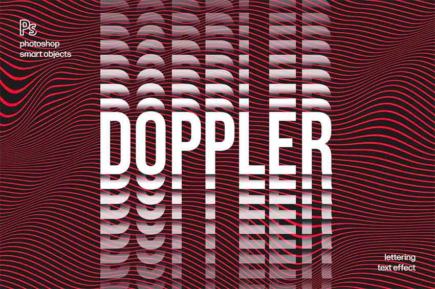 Doppler Distortion Text Style Download for Photoshop