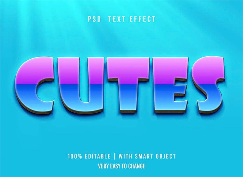 Cutes Retro Text Style Photoshop