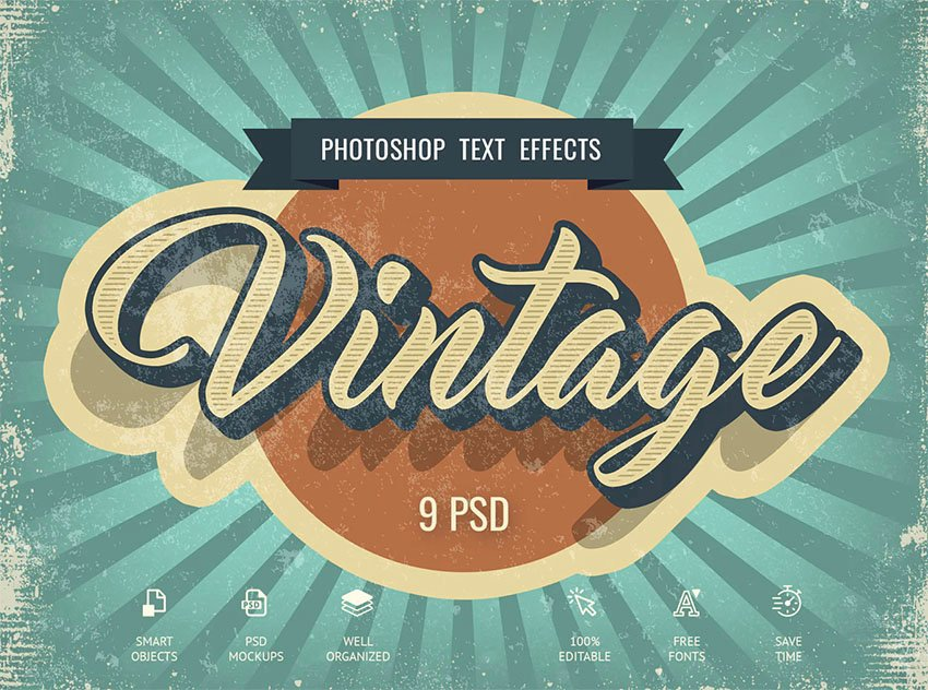 Vintage Photoshop Text Styles Download