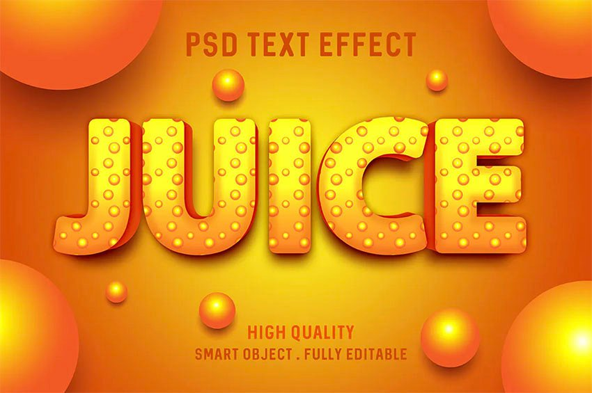 Juice Style Text in Photoshop