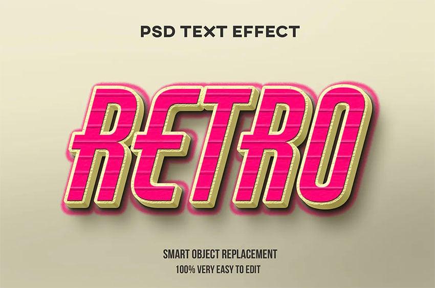 Retro Text Style Photoshop