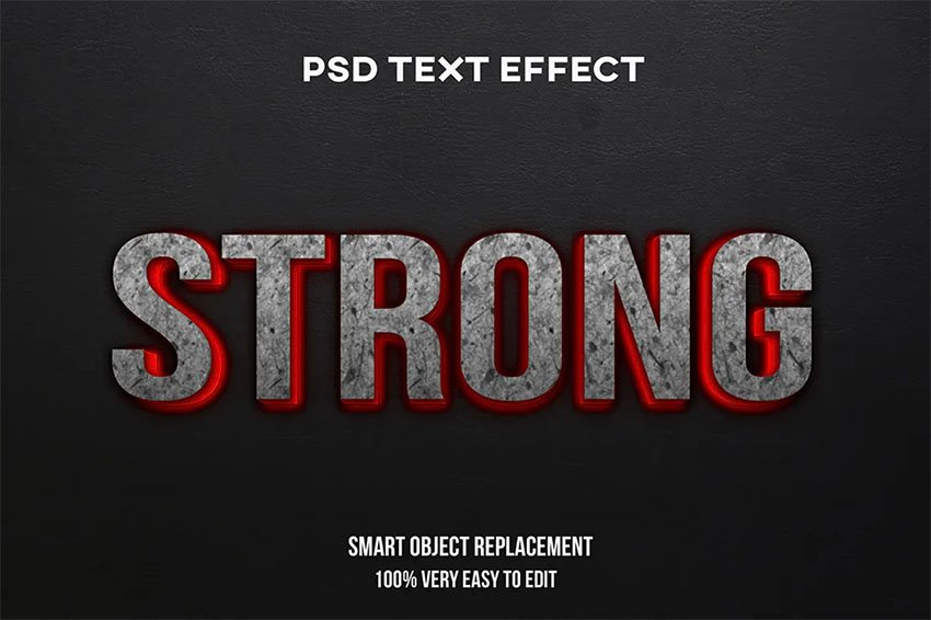 Strong Lava Adobe Photoshop Text Styles
