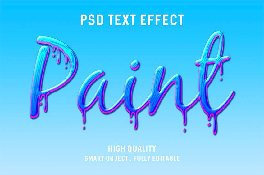 Paint Drip Photoshop Text Styles Pack