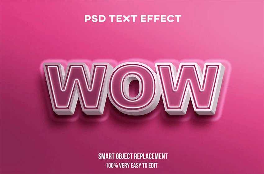 Wow Photoshop Styles for Text