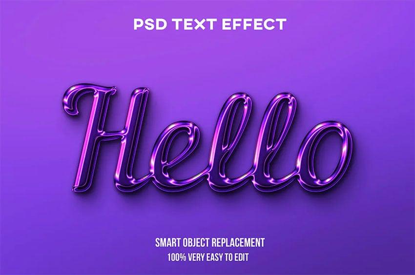 Purple Cool Text Styles Photoshop