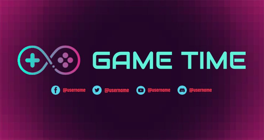 Free Twitch Banner Maker with an Abstract Controller Icon