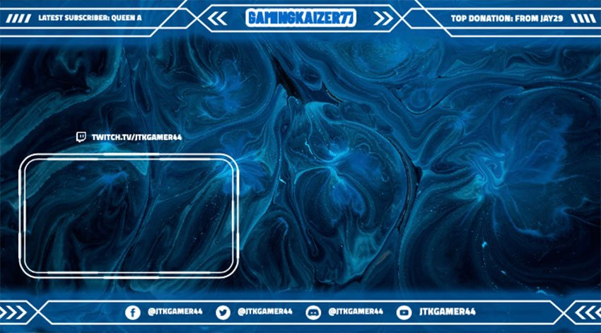 Free Twitch Overlay Template Featuring a Frame