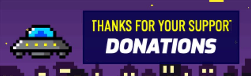 Free Twitch Panel Maker Featuring an 8-Bit UFO Clipart
