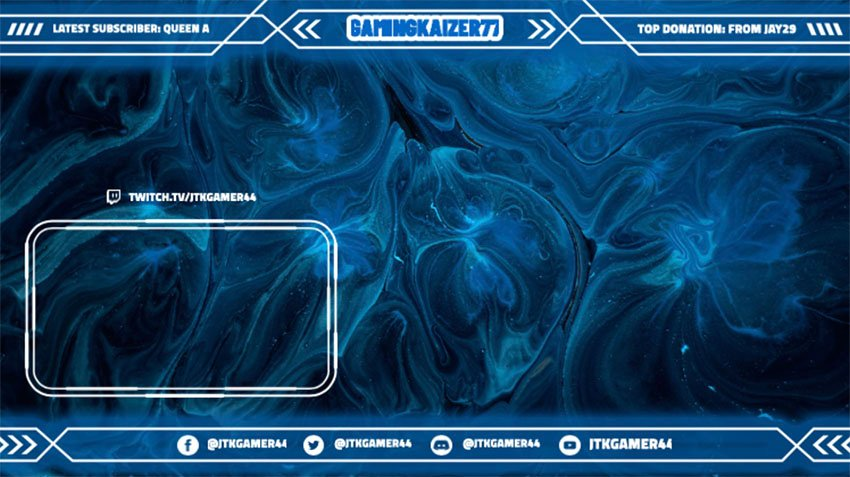 Stream Overlays for Free Featuring a Frame With a High-Tech Style