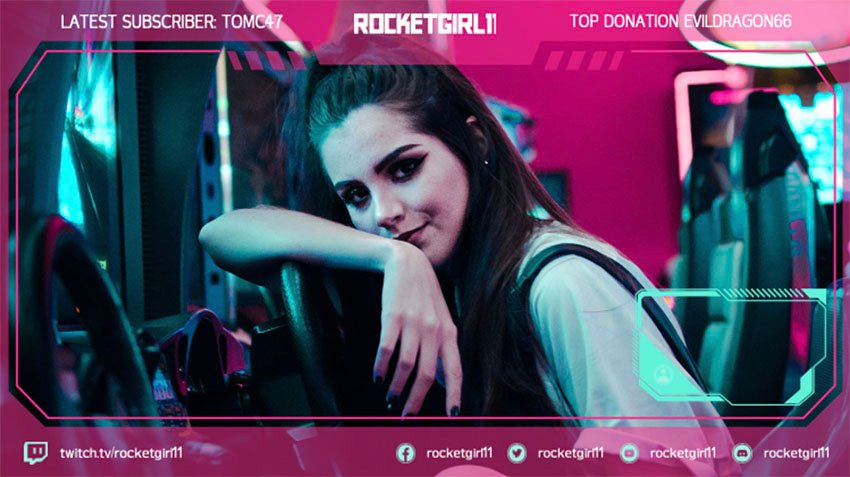 Twitch Overlay Template for a Girl's Gaming Squad