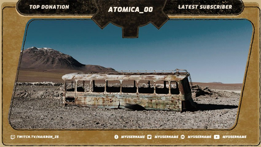 Twitch Overlay Template with Frame