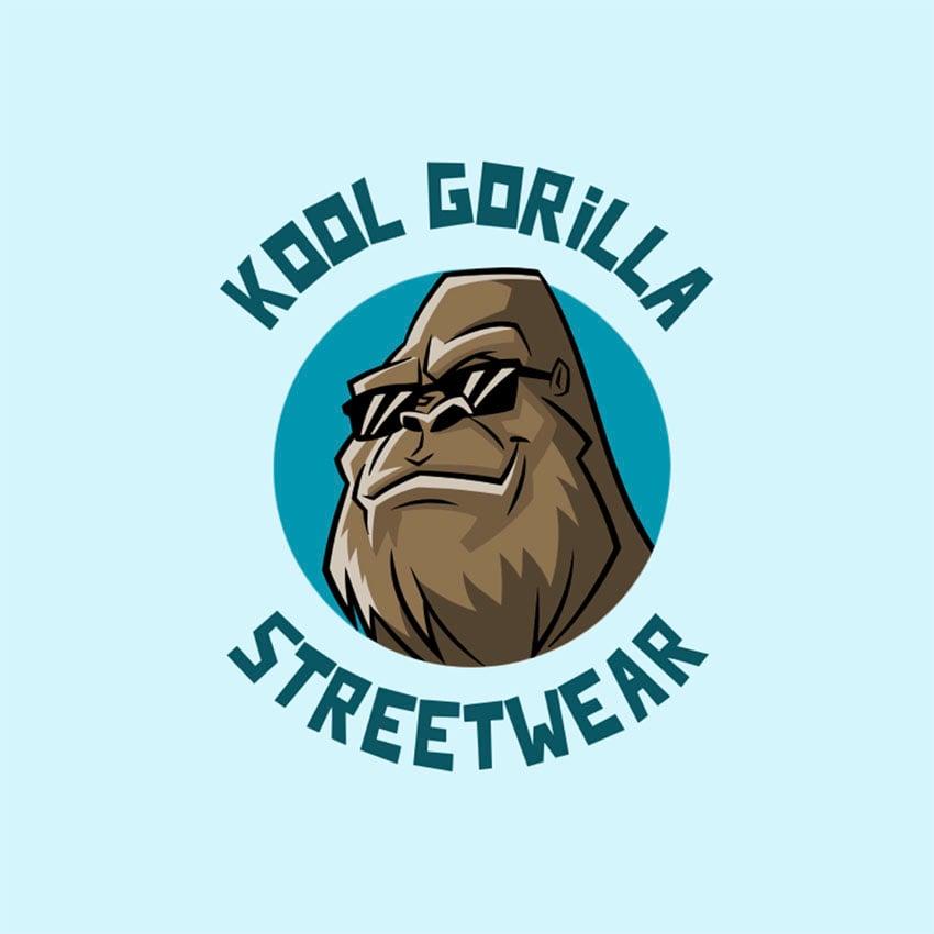Streetwear Logo Creator With a Cool Gorilla