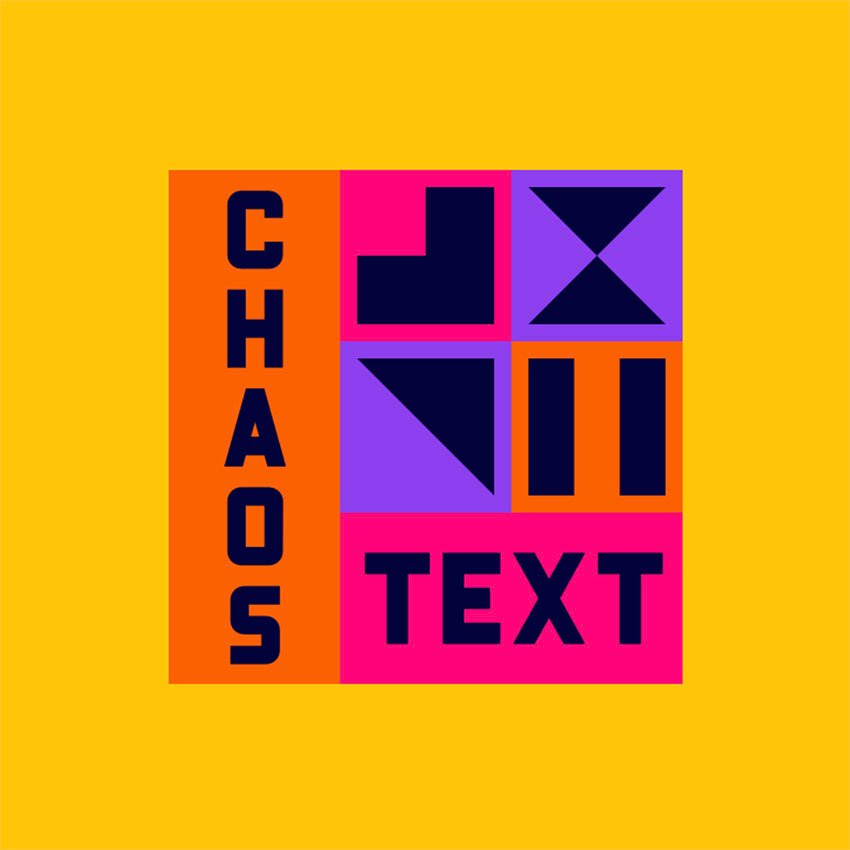 Cool Streetwear Logo with Chaotic Text and Colorful Graphics