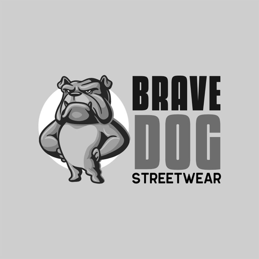 Streetwear Clothing Brand Logo Design with Dog Graphic