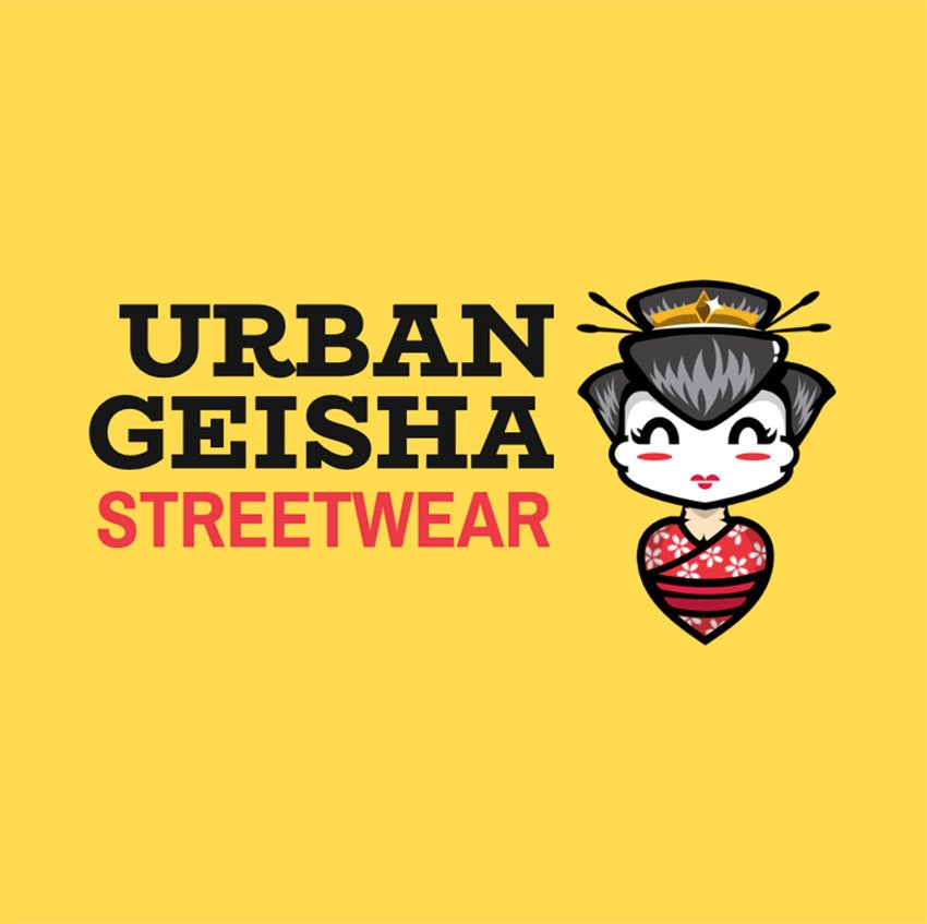 Streetwear Clothing Logo Design Maker Featuring a Geisha