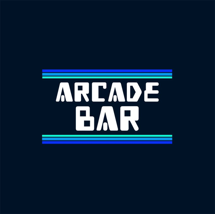 A Typography Logo Creator for a Gaming Bar
