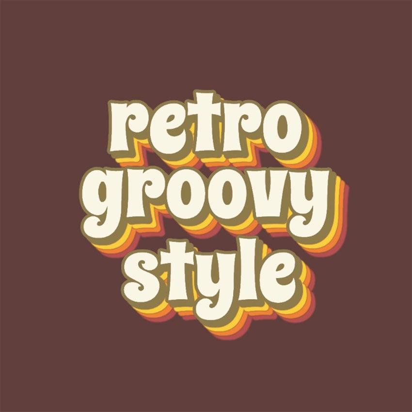 Retro Logo Typography Ideas with Groovy Typography