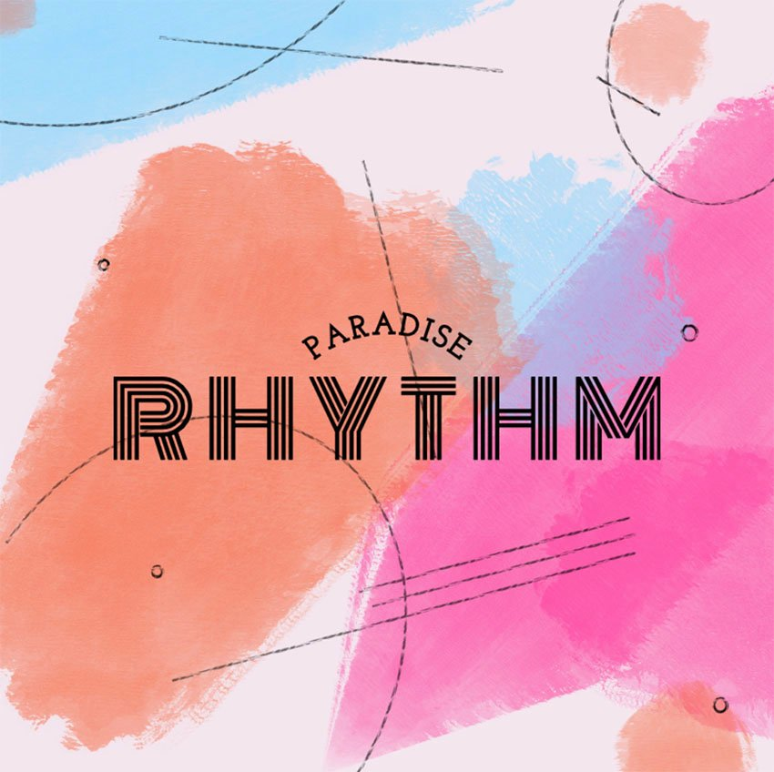 Amazing Typography Logo Maker Featuring Colorful Dynamic Backgrounds