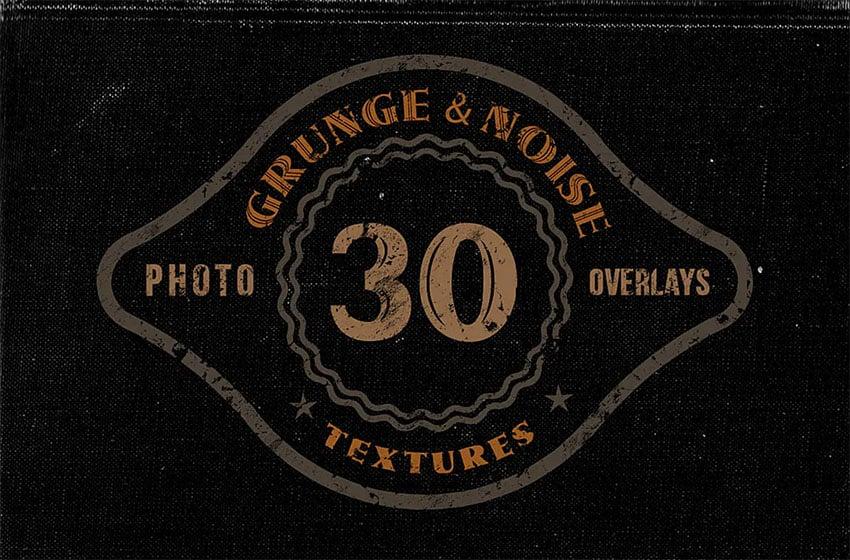 30 Noise Overlay Grunge Textures