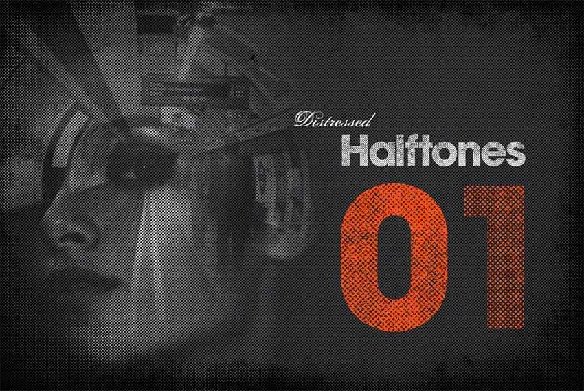 Distressed Halftones Grunge Texture