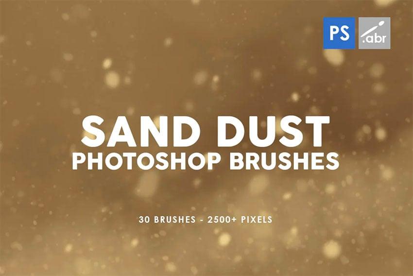 30 Sand Dust Photoshop Stamp Brushes